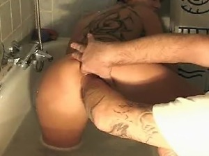 Kinky housewife gets a huge fist fucking in her loose gaping cunt as she...
