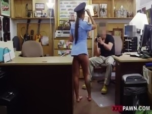 Babe in a police uniform banged up her tight butt  on xxxpawn.pornotagir.com...