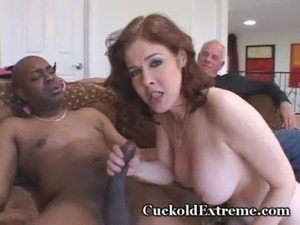 Red Hairy Muff Stuffed With Stranger's Cock free