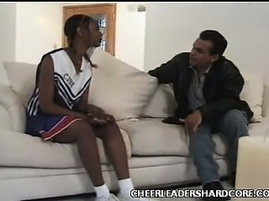 Teen Ebony Cheerleader Balled 1