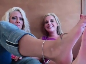 Go ahead and blow your load on our hot feet