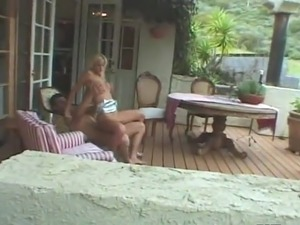 Perverted pair inside A Garden For Their Peeping Tom