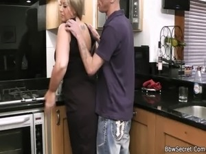 Husband caught cheating in the kitchen free