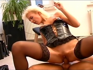 Horny blonde German MILF with milky tits enjoys a hardcore  fucking, screams...