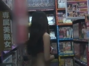 Perverted Japanese female has inside the fucking Shop Only round the Thong...