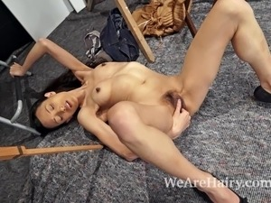 Inco is a stunning hirsute model that paints on the side. whenever she has a...