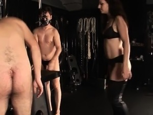 Hot mistress loves abusing guys their cocks