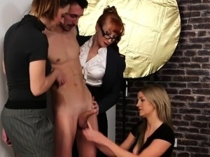 Male model gets handjob