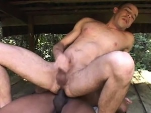 Muscled latino bareback fucks buddy
