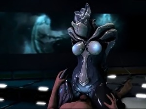 3D Creepy Alien Girl Rides Human Dick!