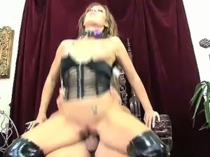 Hot fetish fucking as Capri takes on Johnny\'s big cock