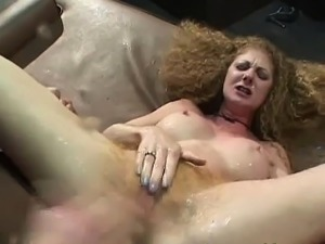 Super hairy redhead slut banged