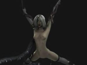 3D Tentacled Dragon Fucks Warrior Girl!