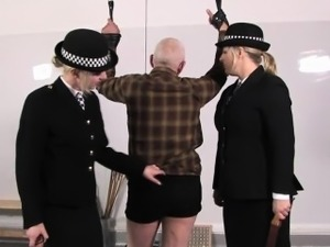 Femdom police punishing worthless pervert sub