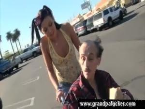 Brunette helps homeless free