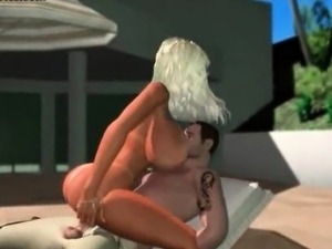 Animated hooker with massive tits