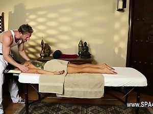 glamorous massage actions from voyeur camera
