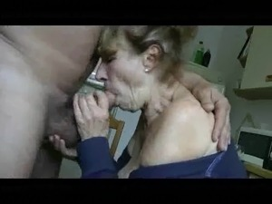 Granny Kitchen Blowjob