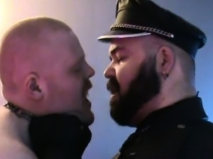 Danish Guys -  A bear and his slaveboy part 2 a little pinc