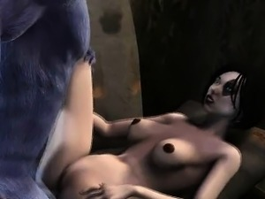 Hentai 3d babe gets fucked by monster man