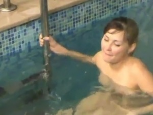 Hidden webcam Catches Naomi bonking inside An Indoor Pool