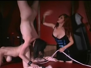 Luscious Latex Mistree plays with her subs (Part 4)