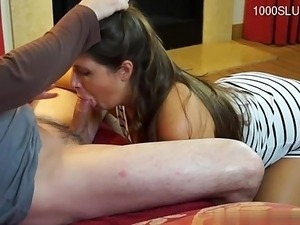 Hot daughter cumshot surprise