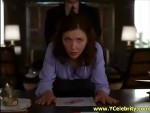 Clip from a movie where Maggie Gyllenhaal plays a warped secretary