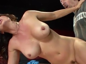 Bartender penetrates MILF Raquel DeVine onto the Pool Table