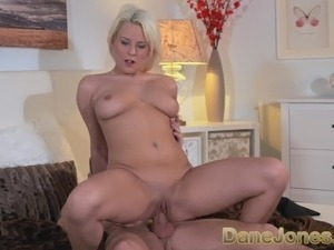 DaneJones Cute blonde enjoys attentive lovers cock