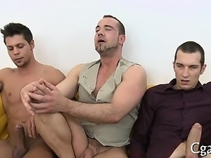 Tough homo stud gives moist blowjob before hardcore anal sex