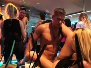 Naughty bitches get banged in an orgy
