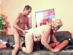 Monster Tit Granny fucks Big Dick Grandpa in Casting