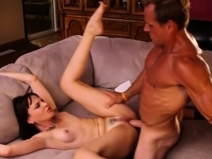 Busty jizzed pervert rides her old mans cock
