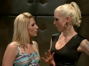 Blonde-On-Blonde lesbie Strapon mov around Lorelei Lee And Ashley Fires