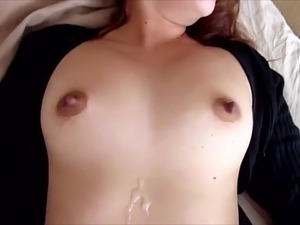 Cumming on his girlfriend