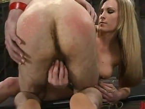 Sleaze Harmony Bounds the man And inserts His brown eye not far from the...