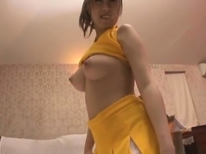 Busty Japanese cheerleader gets her hairy pussy fingered an