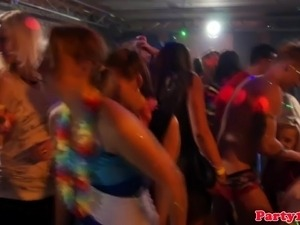 Euro amateurs cocksucking at dancing party