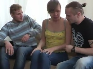 Olga And Her BF Earn Some Money inside the Sexy 3some fucking vid