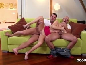 Two Young Boys Caught Hot MILF Step-Mom and Fuck her