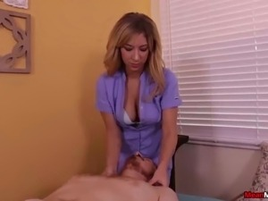 Blonde chick orgasm control