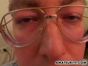 Amateur GF 3some with facial cumshots