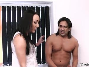 Cheating on wife with busty ebony secretary