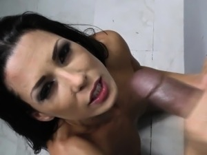 Gloryhole whore cum faced