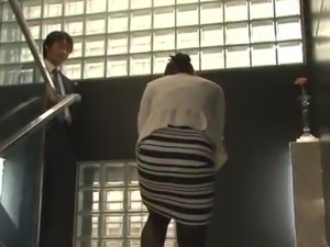 Rising Secretary Chihara Nakai banged all over the toy By Her chief