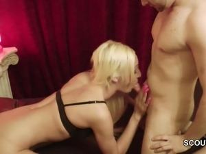 German Blonde Shemale Get Fucked by Stranger after Party