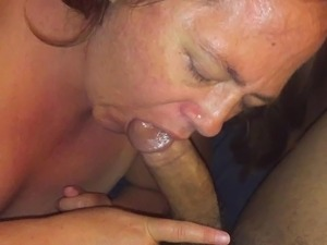 White girl sucksBlack dick and tongues ass