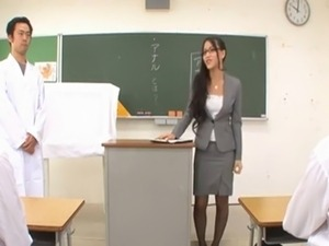 Teacher Ren Azumi gives Anal Lesson-by PACKMANS