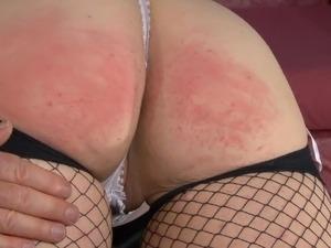 Bare bottom Spank